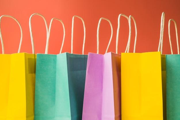 カラフルなショッピングバッグ 無料写真