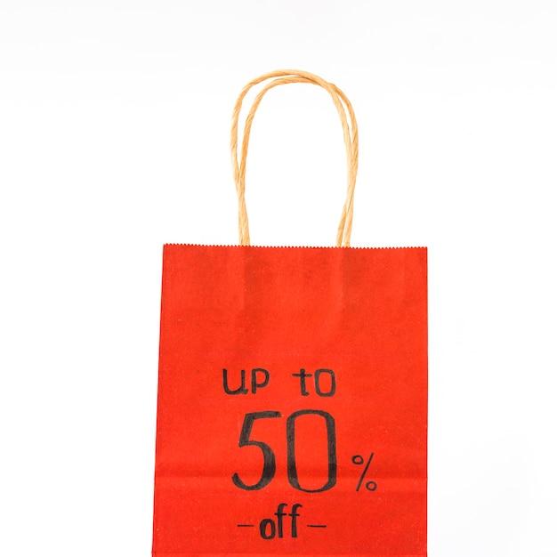 レッドペーパーショッピングバッグ 無料写真