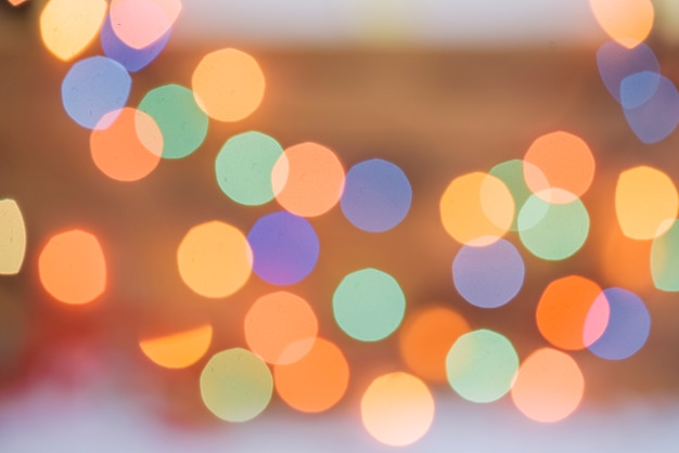 光の多くのカラフルなぼかし 無料写真