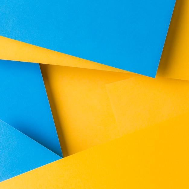 青と黄色のテクスチャ紙の背景の抽象的な背景 無料写真