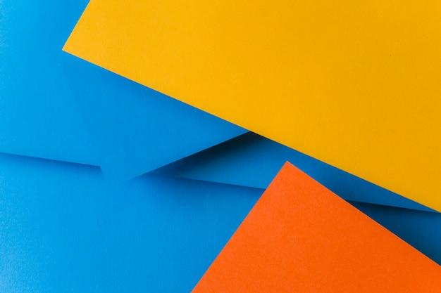 Синий; оранжевый и желтый цвет бумаги для фона Бесплатные Фотографии