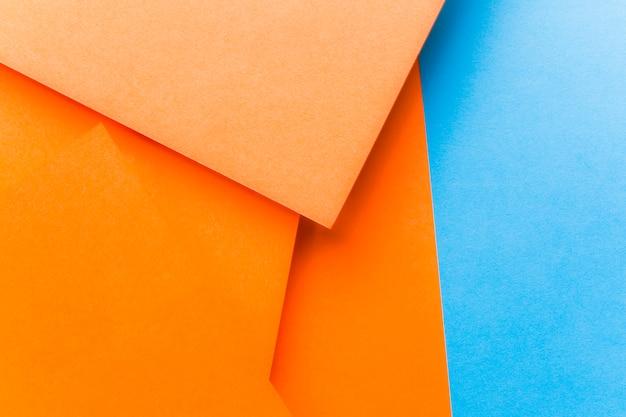 オレンジと青の背景のクローズアップ 無料写真