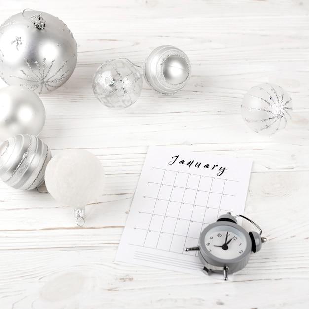 Январьское планирование праздничного стола Бесплатные Фотографии