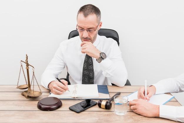 クライアントと弁護士 無料写真