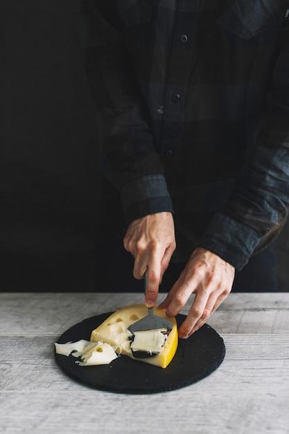 格子チーズ 無料写真
