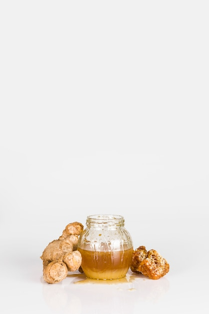蜂蜜とショウガ 無料写真
