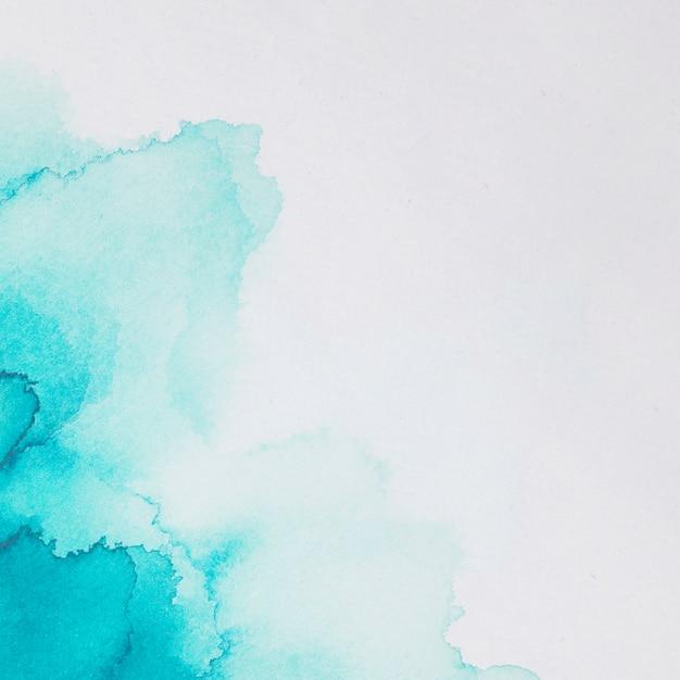 白い紙の塗料のアクアマリンブロット 無料写真