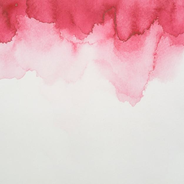 白紙の塗料の赤ブロット 無料写真