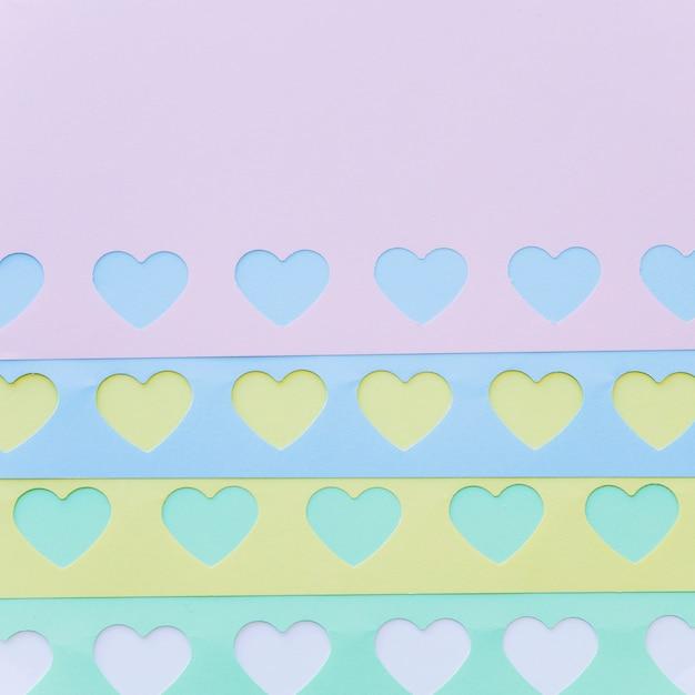 Набор ярких бумажных сердечек Бесплатные Фотографии