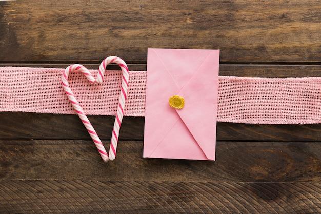 リボン、封筒、キャンディー・キャン 無料写真