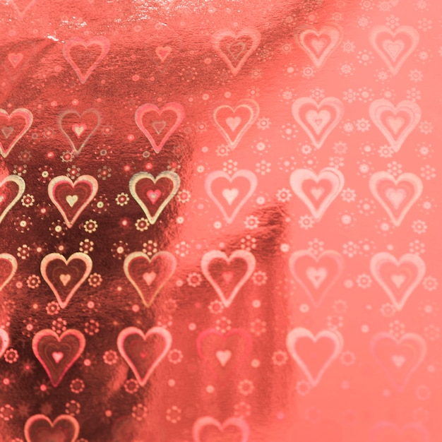 心のパターンとピンクのスイート紙 無料写真