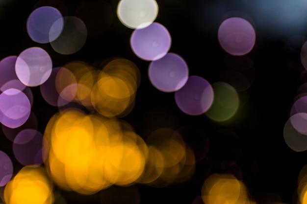 夜の抽象的なボケの背景 無料写真