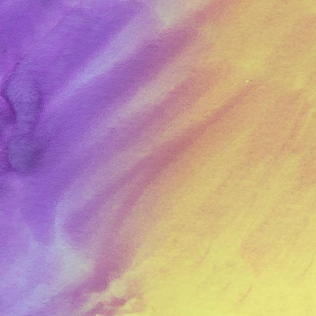 抽象的な水彩画の黄色と紫色の背景 無料写真