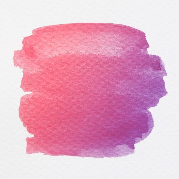 抽象的なピンクと紫の水彩ブラシストロークテクスチャ背景 無料写真