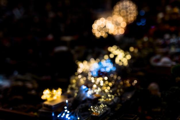 抽象的な照らされた背景をぼかした写真のフルフレーム 無料写真