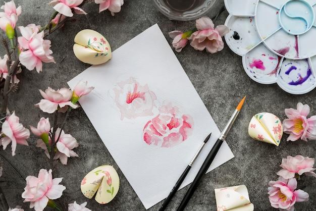 Китайский новый год концепция с бумагой Бесплатные Фотографии