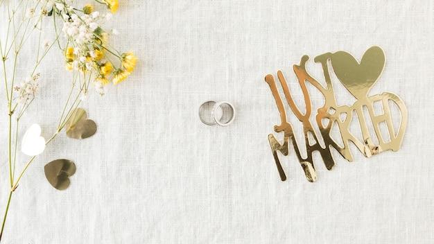 結婚指輪の装飾品 無料写真