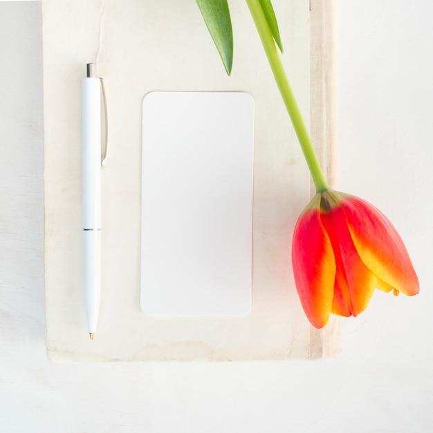 ペンで封筒を花します。 無料写真