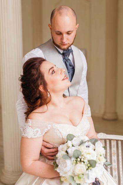 結婚式のカップル 無料写真