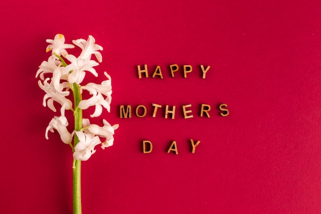 花の近く幸せな母の日碑文 無料写真
