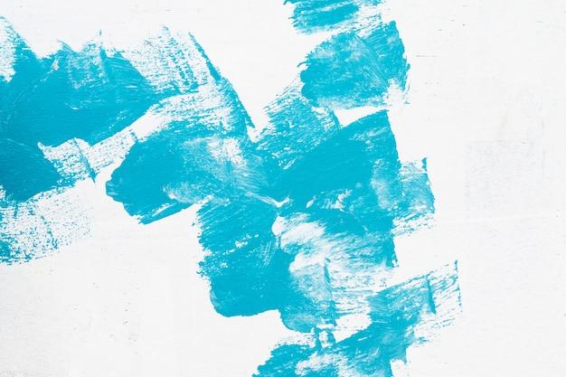 手描きのブルーの抽象的な水彩画の背景 無料写真