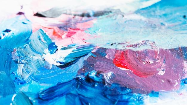 Красочный текстурированный масляной живописи абстрактного фона Бесплатные Фотографии