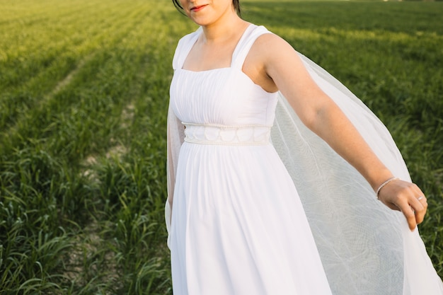 自然の風景の中の花嫁 無料写真