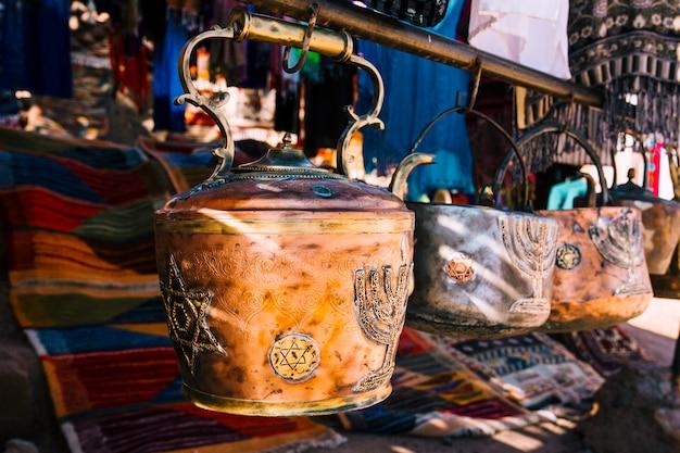 モロッコの市場で土鍋 無料写真
