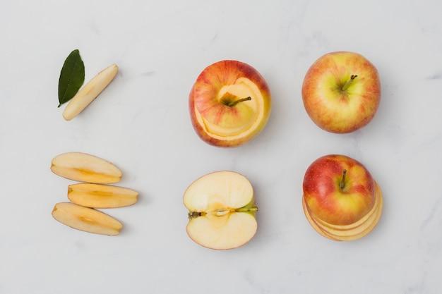 Вид сверху порезы яблок Бесплатные Фотографии