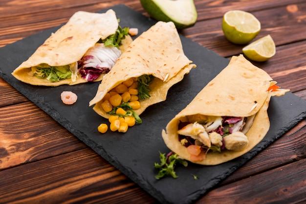 メキシコ料理の静物 無料写真