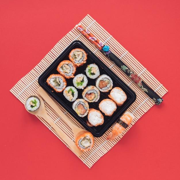 Плоская композиция для суши Бесплатные Фотографии