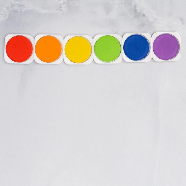 Набор радужных красок цвета лгбт Бесплатные Фотографии
