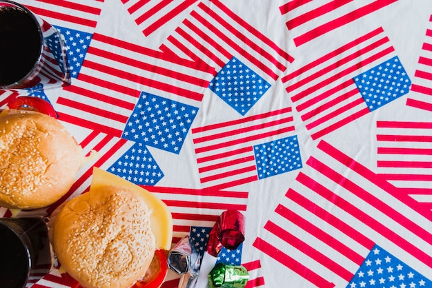 独立記念日のシンボルと扱い 無料写真