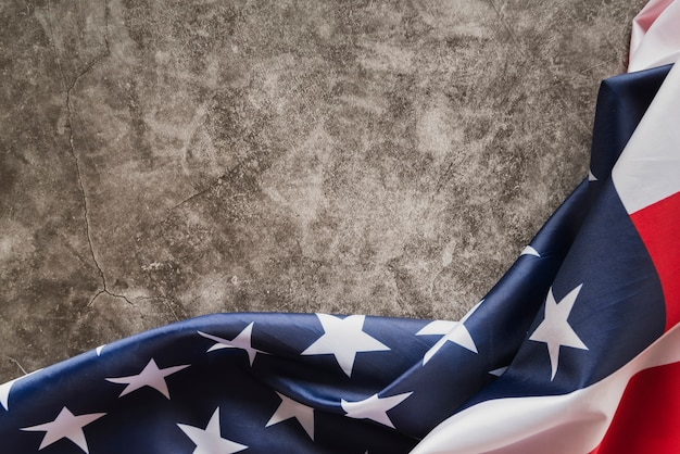 Флаг сша на темном мраморе Бесплатные Фотографии