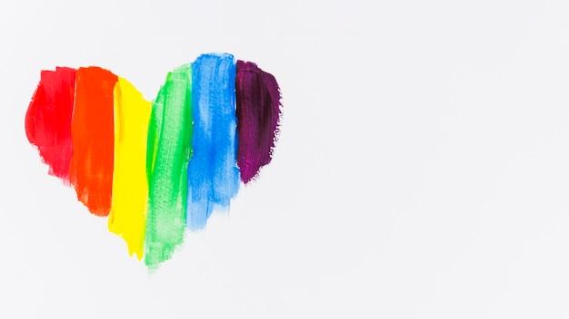 Сердце с цветами флага гордости Бесплатные Фотографии