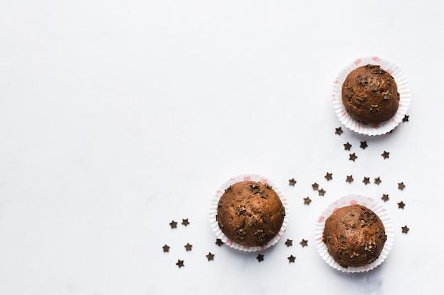 チョコレートマフィン 無料写真