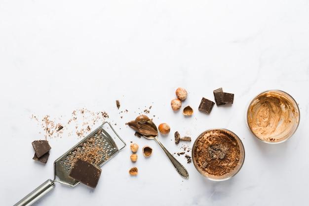 チョコレートムース 無料写真