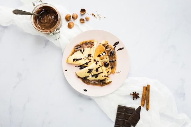 チョコレートクレープ 無料写真