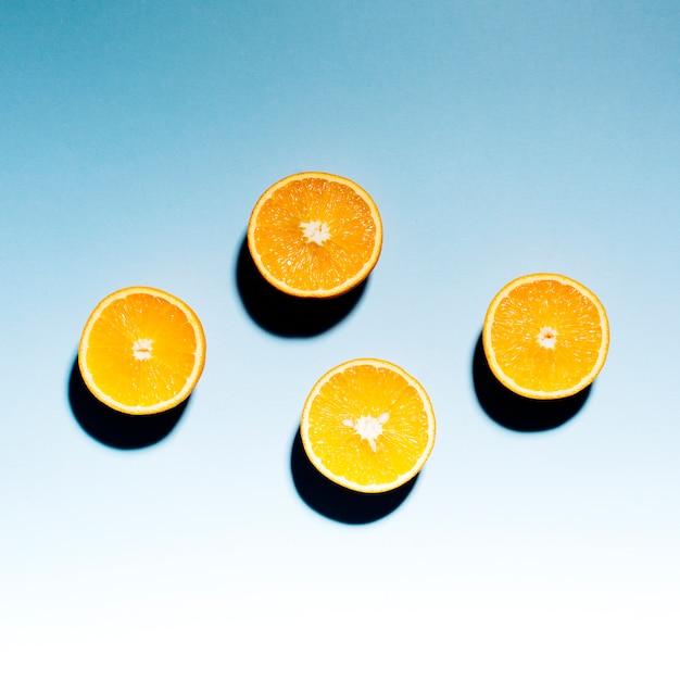 軽い表面に熟した柑橘類の半分 無料写真