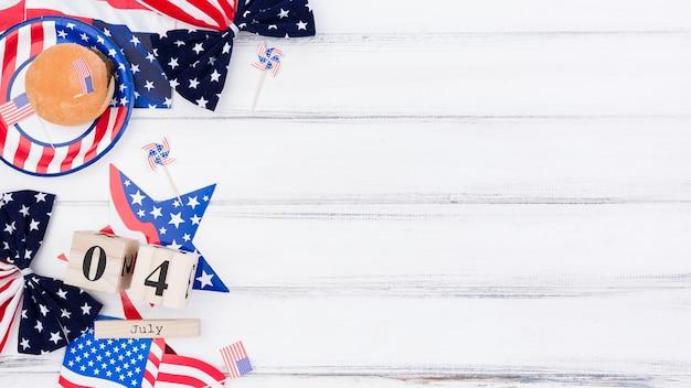 独立記念日のためのお祭りの装飾 無料写真