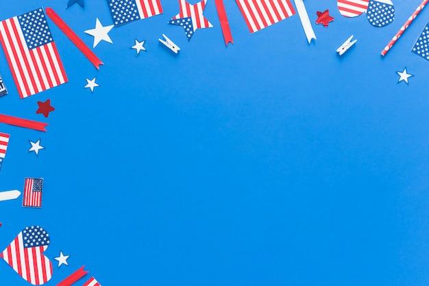 アメリカ国旗の色のパターン 無料写真