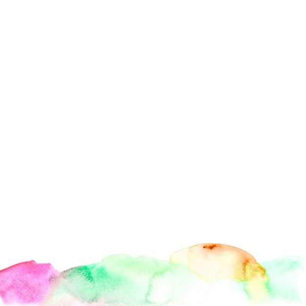 白い背景にカラフルな水彩テクスチャ 無料写真