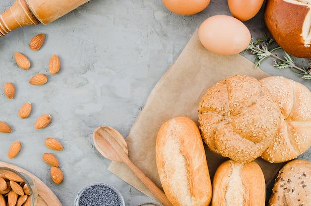 Пекарня натюрморт с хлебом ручной работы Бесплатные Фотографии