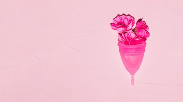 花とトップビュー月経カップ 無料写真