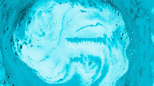 ブルーボディケアバブルバスの背景 無料写真