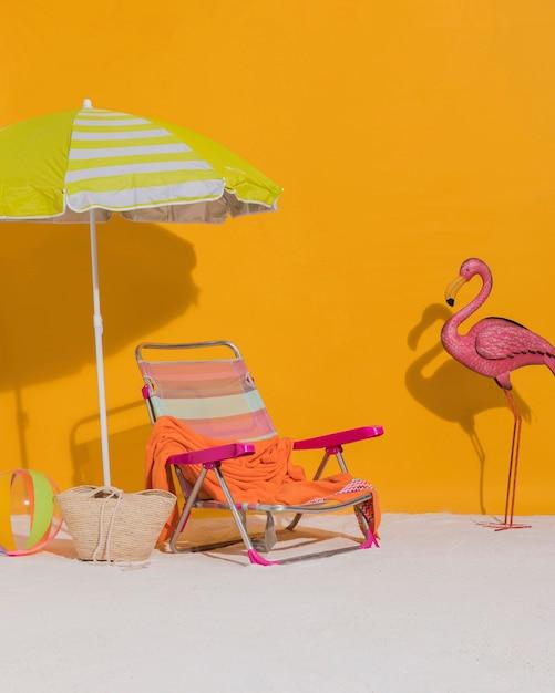 スタジオでのビーチの装飾 無料写真