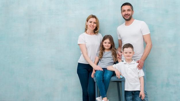 自宅で家族 無料写真