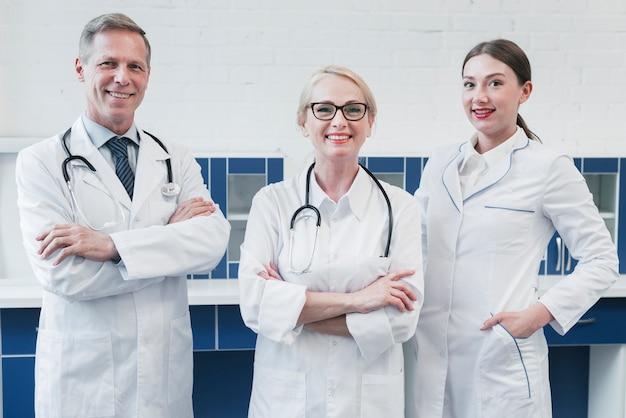 診療所の医療チーム 無料写真