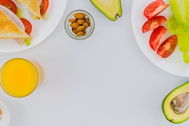 Здоровый завтрак с фруктами Бесплатные Фотографии