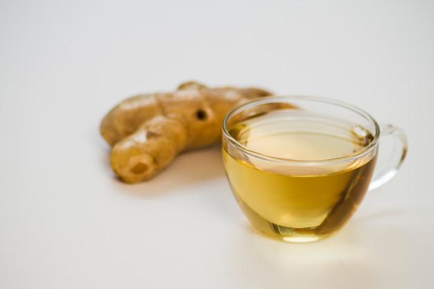 生姜とお茶のガラス 無料写真
